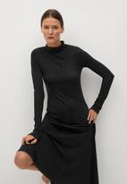 MANGO - Dress almi - dark grey