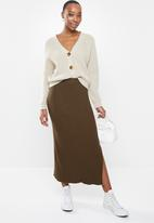 Cotton On - Stella knit midi skirt - brown