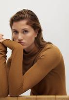 MANGO - Dress almi - brown