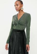 Glamorous - Viola bodysuit - bronze & green