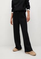 MANGO - Trousers neosoft - black