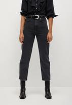 MANGO - Jeans veronica - dark grey