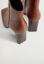 MANGO - Tierra ankle boot - brown