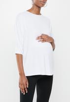 Superbalist - Maternity dolman sleeve tee - white