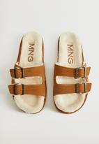 MANGO - Vacay suede slipper - brown