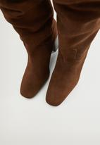 MANGO - Week suede boot - dark brown