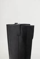 MANGO - Sora leather boot - black