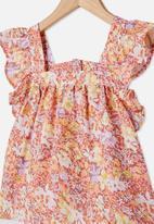 Cotton On - Perri ruffle sleeve top - multi