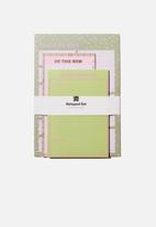 Typo - Notepad 3 pack - green