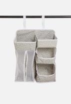 Sixth Floor - Spotty hanging 2-tier organizer - grey