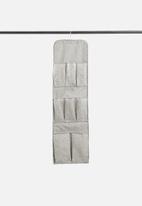 Sixth Floor - Spotty hanging organizer - grey & white