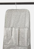 Sixth Floor - Spotty hanging organizer - grey & white