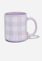 Typo - Daily mug - lilac & white
