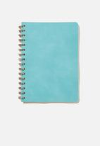 Typo - A5 dot daily scribe notebook - turquoise