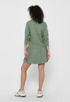 Jacqueline de Yong - Nashville long sleeve sweat dress - sea spray