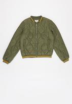 KIDS ONLY - Dorah quilted bomber jacket - green