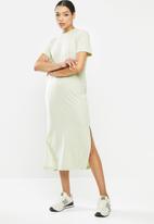 Missguided - Basic tshirt dress midi short sleeve - mint