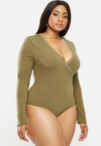 Glamorous - Curve knitted bodysuit - khaki