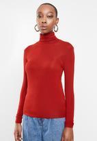 MANGO - T-shirt second - red