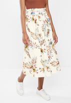 edit - Cotton poplin full skirt - white