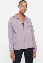 Under Armour - Woven hooded jacket - purple