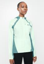 Under Armour - UA qualifier outrun the storm jacket - green