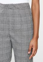 Missguided - Tailored coord cigarette trouser check - grey