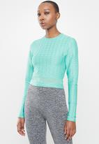 Missguided - Textured long sleeve top - blue