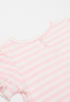 POP CANDY - Girls stripe tee - pink & white