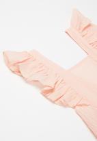 POP CANDY - Girls frill romper - pink