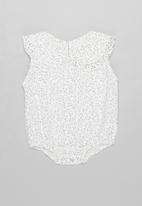 POP CANDY - Girls printed romper - white & grey