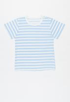 POP CANDY - Baby stripe tee - blue & white