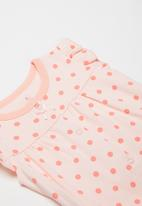 POP CANDY - Girls polka dot romper - pink