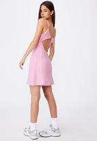 Factorie - Tie back dress - pink