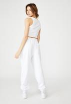 Factorie - Super slouchy trackpant - white