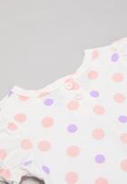POP CANDY - Girls polka dot tee - white