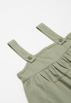 POP CANDY - Dress with braces - khaki