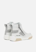 Diesel  - S-rua mid sk sneakers - white / grey violet