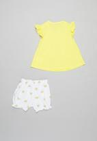 POP CANDY - Girls 3 piece set - yellow & white