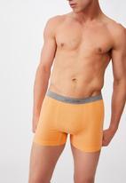 Cotton On - Mens seamless trunks - washed orange/grey marle