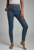 Cotton On - High rise skinny jean - coogee blue