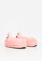 Rebel Republic - Girls flamingo slippers - pink