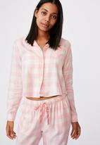 Cotton On - Flannel sleep shirt - gingham check