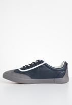 UrbanArt - LA 13 lea sneaker - grey & navy