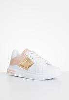 KANGOL - Stella sneaker - white & pink