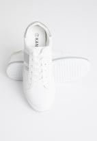 KANGOL - Kozi sneaker - white & silver