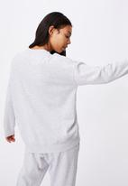 Cotton On - Lifestyle long sleeve crew top - grey