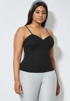 Superbalist - Ponti corset cami - black