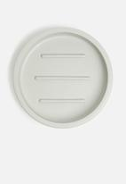 Sixth Floor - Otto polyresin soap dish - grey
