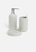 Sixth Floor - Otto polyresin soap dispenser - grey